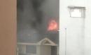 Cháy xưởng sản xuất giày dép giữa trời mưa ở TP.HCM