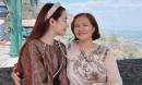 Nhã Phương cùng mẹ đi chùa cầu bình an, nhan sắc xinh đẹp như nàng thơ gây chú ý