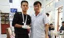 'Người hùng' cứu bé 3 tuổi rơi từ tầng 12 chung cư ở Hà Nội bị rạn xương tay, phải tạm nghỉ lái xe