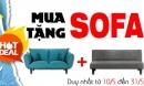 Hot hơn cả mùa hè – Ưu đãi lớn chưa từng có: Mua sofa tặng sofa – duy nhất tại Thế giới sofa