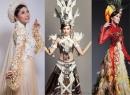 Biến tấu trang phục dân tộc của các hoa hậu Việt trên thảm đỏ quốc tế