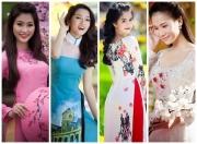 Mỹ nhân Việt thướt tha áo dài khoe sắc mừng xuân