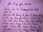 Nghẹn lòng với bức thư xin ông già Noel cho bố sống lại của bé lớp 1