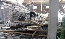 Nóng: Sập giàn giáo siêu thị, nhiều người bị chôn vùi dưới đống bê tông