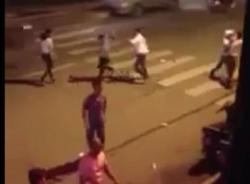 Hỗn chiến như phim hành động trên đường Trần Duy Hưng