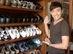 Video: Khám phá tủ giày của MC Trấn Thành