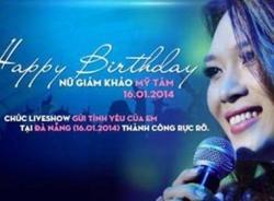 Thí sinh Vietnam Idol chúc sinh nhật Mỹ Tâm 'hay ăn chóng lớn'