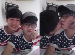 Clip hai nam sinh Việt đẹp như mỹ nam hôn nhau như phim Hàn