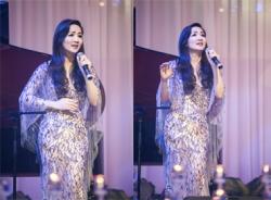 Giáng My xinh đẹp trong đêm thơ gây quỹ từ thiện