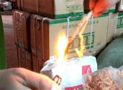 Video mực khô nghi làm bằng cao su xuất hiện tại Hà Nội