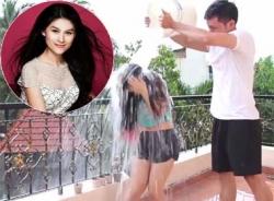 Diễn viên Ngọc Thanh Tâm hoàn thành thách thức 'dội nước đá'