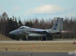 Máy bay F-15 Mỹ rơi, phi công không kịp nhảy dù