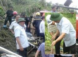 Vụ tai nạn thảm khốc ở Sa Pa: Bộ trưởng Thăng bám dây thừng xuống vực