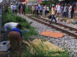 Người giúp việc bị tàu cán tử vong ở Hà Nội