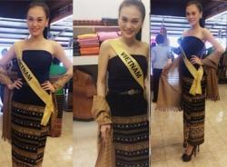 Cao Thùy Linh khoe ảnh trang phục truyền thống dự thi Hoa hậu Quốc tế 2014