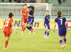 Nữ Việt Nam vs nữ Nhật Bản: Chiến đấu kiên cường
