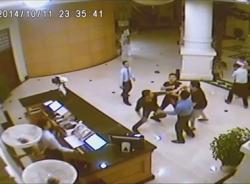 Clip hỗn chiến trong khách sạn 4 sao ở Hải Phòng