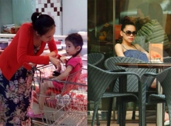 Sao nữ Việt khệ nệ bụng bầu giữa đời thường