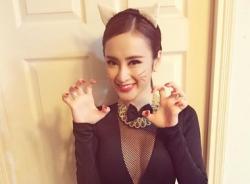 Angela Phương Trinh hoá thành miêu nữ xinh đẹp trong đêm Halloween