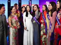 Trương Ngọc Ánh đọ sắc với dàn thí sinh Hoa khôi áo dài VN