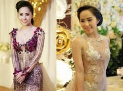 Quỳnh Nga bị ném đá vì 'khoe thân' trong lễ cưới