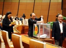 Quốc hội vẫn giữ nguyên 3 mức lấy phiếu tín nhiệm