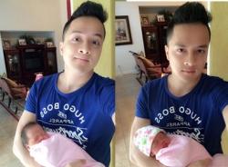 Cao Thái Sơn tung video cho bé bú bình, úp mở việc làm bố