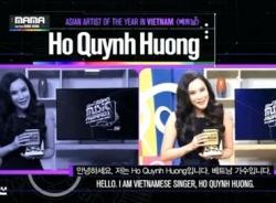 Hồ Quỳnh Hương đại diện Việt Nam đoạt giải 'MAMA 2014'