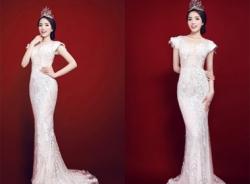 Tân Hoa Hậu Nguyễn Cao Kỳ Duyên xinh đẹp lộng lẫy với váy dạ hội trắng