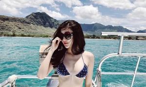 Ảnh mặc bikini hiếm hoi của Đặng Thu Thảo, Huyền My