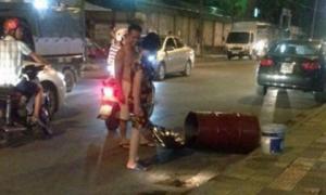 Nổ thùng phuy, hai chân người đàn ông bị dập nát