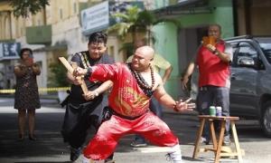 Những hình ảnh ấn tượng của bậc thầy kung-fu Việt Nam đi tìm kỷ lục Thế Giới