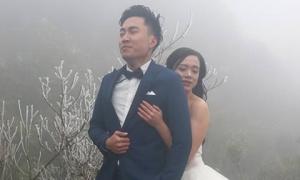 Để đẹp thì bất chấp: Cô dâu vai trần, chú rể gồng mình dưới trời băng tuyết để có bộ ảnh cưới 'nghìn like'