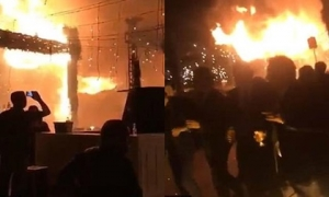 Đám cưới suýt thành đám ma khi pháo hoa bén lửa, thiêu rụi cả hôn trường