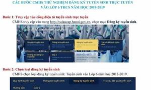 Từ 1/7, phụ huynh Hà Nội có thể đăng ký tuyển sinh lớp 1, lớp 6 trực tuyến
