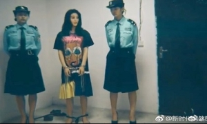 Rò rỉ ảnh Phạm Băng Băng bị bắt, còng tay trong tù