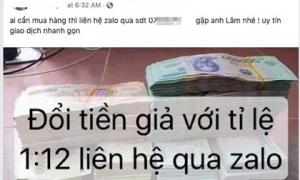 Cận Tết 2019, tiền giả lại được rao bán rầm rộ trên Facebook