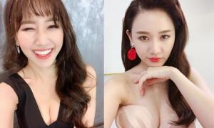 34 tuổi, Hari Won mặc 'o ép' vòng 1 khoe vẻ đẹp gợi cảm