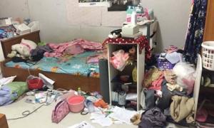 Gái xinh trường y khiến dân tình phát hoảng khi biến phòng trọ thành bãi rác khổng lồ