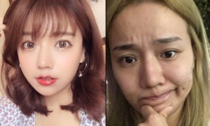 Lần đầu đăng ảnh mặt mộc, hot girl khiến fan sốc vì khác xa trên mạng