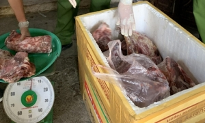 """""""Phù phép"""" hàng trăm kg thịt heo thối thành thịt bò"""