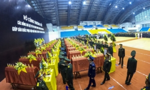 Hình ảnh Lễ viếng 22 liệt sĩ đoàn Kinh tế - Quốc phòng 337