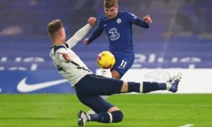 Tottenham trở lại ngôi đầu sau trận hòa nhạt với Chelsea