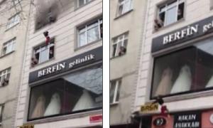 Toà nhà bốc cháy, mẹ ném 4 con từ tầng 3 xuống khiến những người chứng kiến 'đứng tim'
