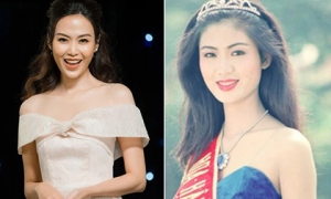 Nhan sắc đỉnh cao, khiến nhiều người thích thú của Hoa hậu Thu Thủy thời trẻ