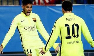 Barcelona dạy Atletico Madrid bài học phản công