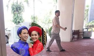 Bố chồng và người thân đến bệnh viện thăm Tăng Thanh Hà