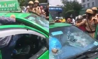 Xôn xao clip CSGT truy đuổi taxi như phim hành động trên phố Hà Nội