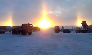 Kì lạ 3 mặt trời bỗng dưng xuất hiện cùng một lúc ở Nga