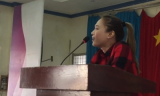 Mỹ Tâm ca vọng cổ tặng bà con nghèo Tiền Giang